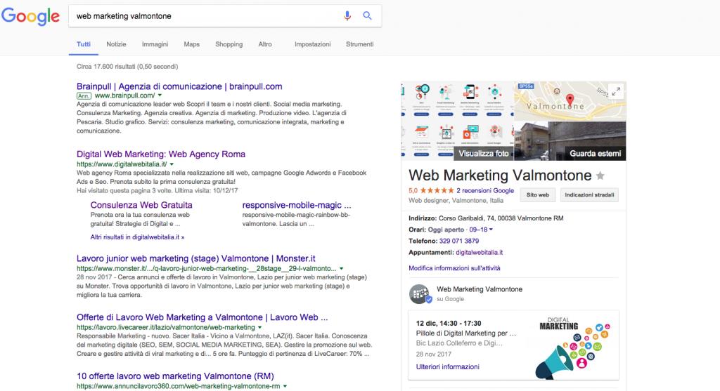 come ottimizzare scheda google my business
