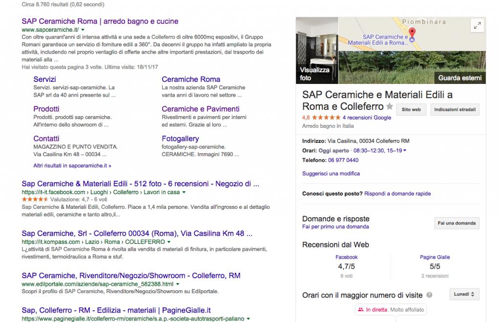 scheda attività google my business