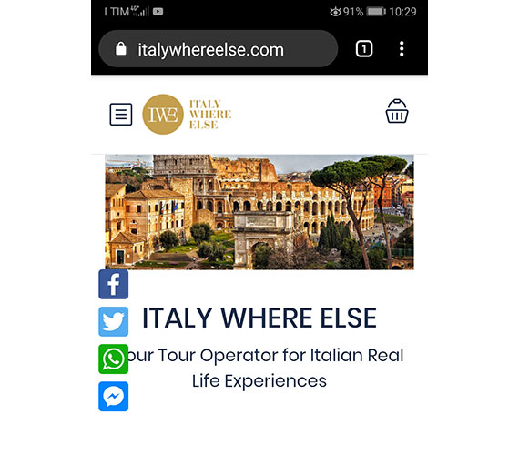 Sito Tour Operator su Smartphone