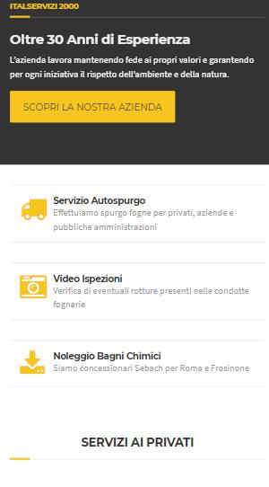 sito web spurgo fognature mobile